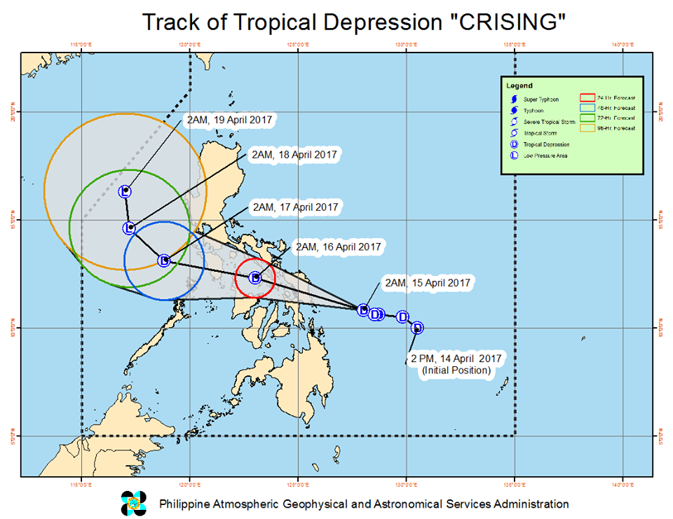 track tropical depression Crising