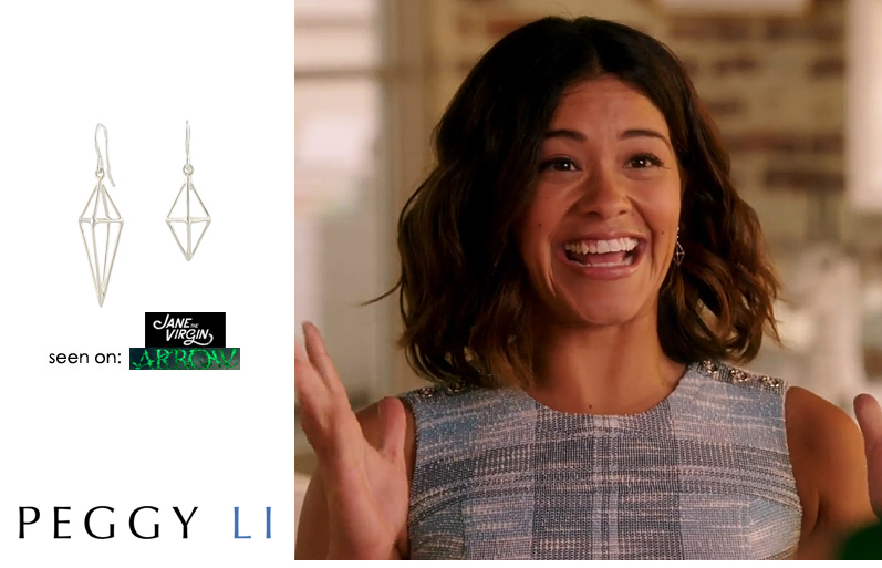 Jane the Virgin silver earrings