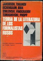 """""""Teoría de la literatura de los formalistas rusos"""" - T. Todorov"""