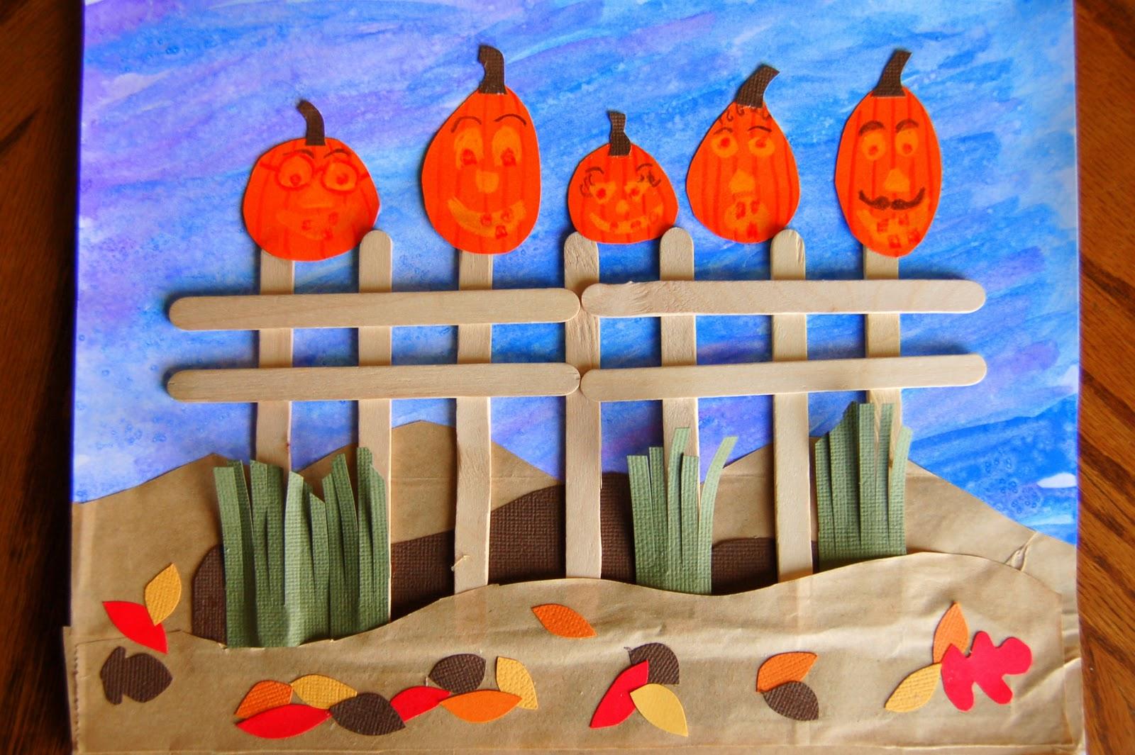 Five Little Pumpkins Craft She S Crafty