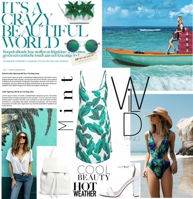 Jelena Zivanovic Instagram @lelazivanovic.Glam fab week.Tropical print dress.Best summer outfit ideas.