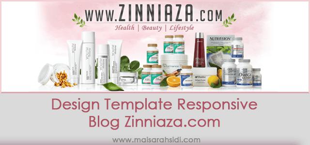 Design Template Responsive Blog Zinniaza.com