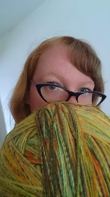 giant yarn ball bigger than my head one full sweater of yarn