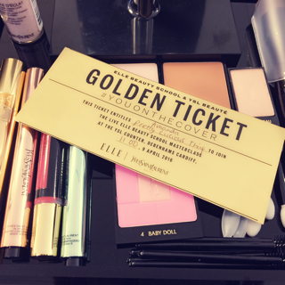 Golden Ticket, Make-Up, Elle Beauty School, Elle Magazine, Touche Eclat, Touch Eclat Foundation