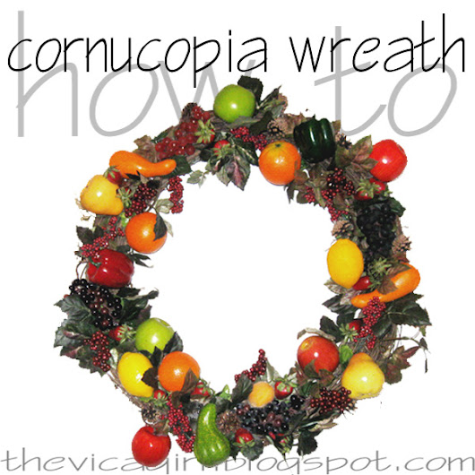 how to make a thanksgiving cornucopia wreath decoration for your own home