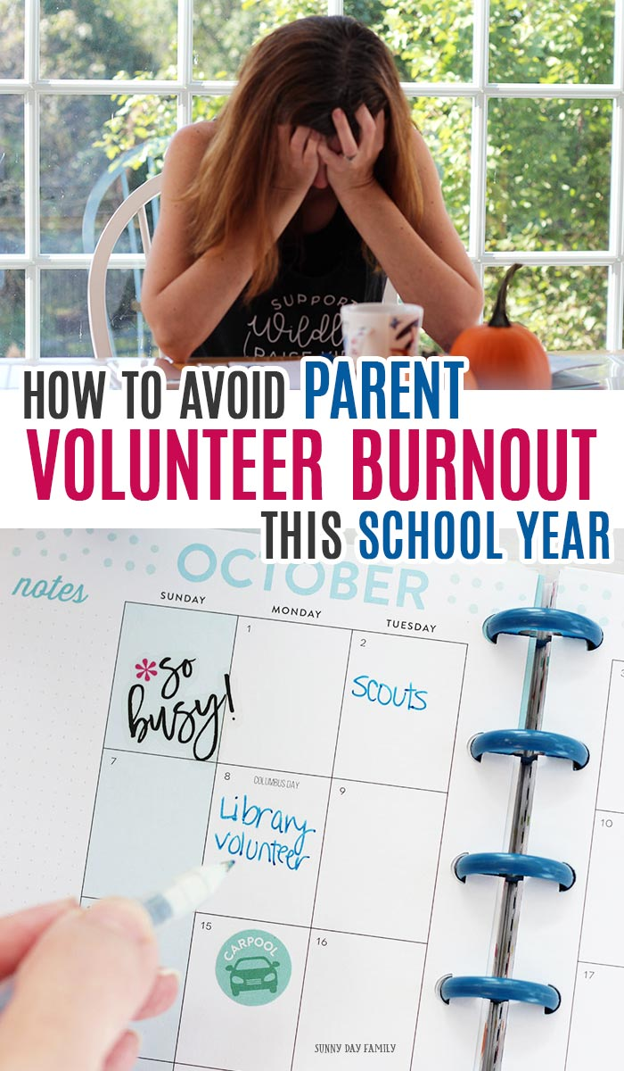 Volunteer parent burnout is real but you can avoid it with these easy tips! See how to get organized, manage your commitments, and take care of yourself too. #ad #MyYearSupplemented