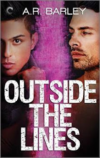 romance novel covers, M/M Romance, Outside the Lines by A.R. Barley