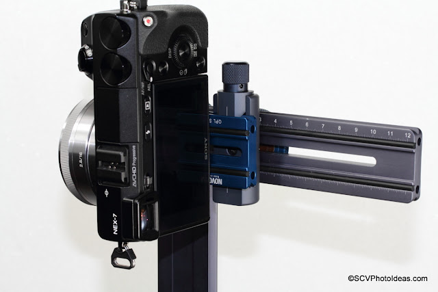 Mounting a Sony NEX 7 ILC on the horizontal arm via Q Mount
