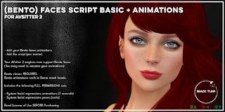 [Black Tulip] Script - BENTO Faces BASIC+Anim - AVsitter Plugin