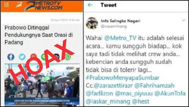 Sebar Hoax, MetroTV Akhirnya Hapus Berita