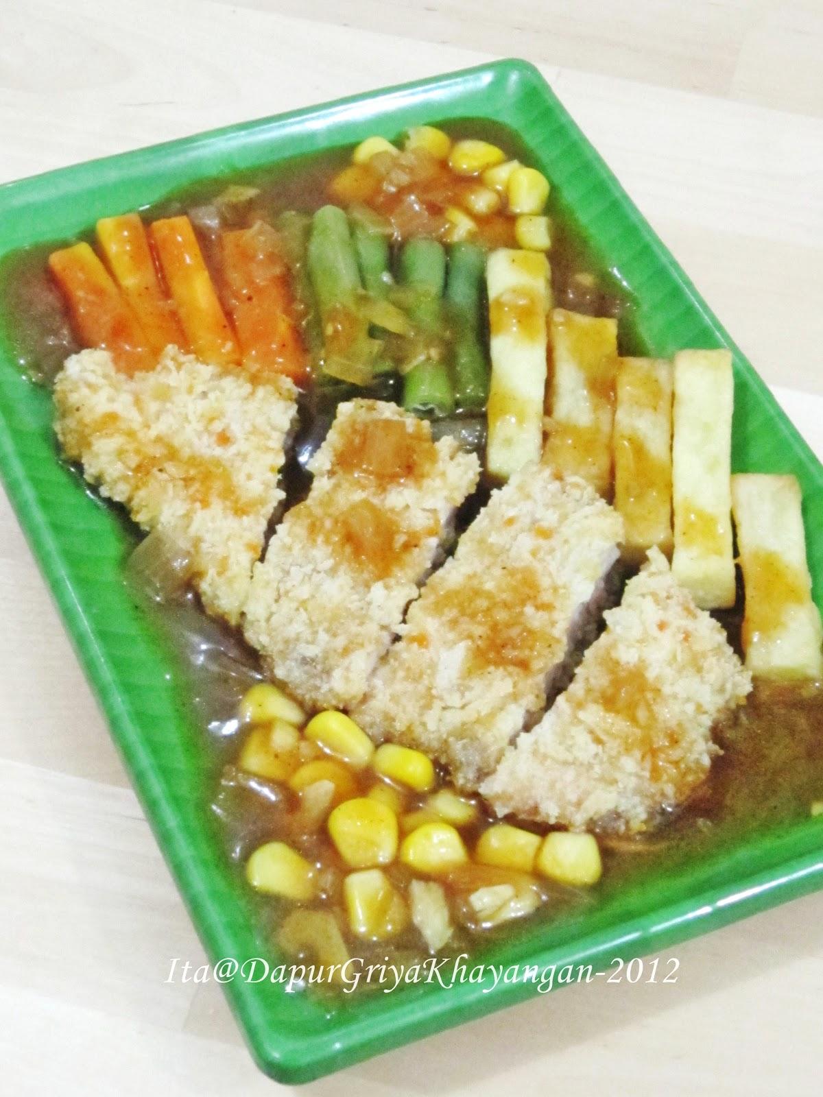 Bumbu Chicken Katsu : bumbu, chicken, katsu, Dapur, Griya, Khayangan:, Chicken, Katsu, Steak, Hitam