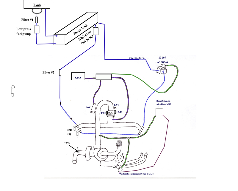 Final Turbo Layout What Filters And Fuel Pumps