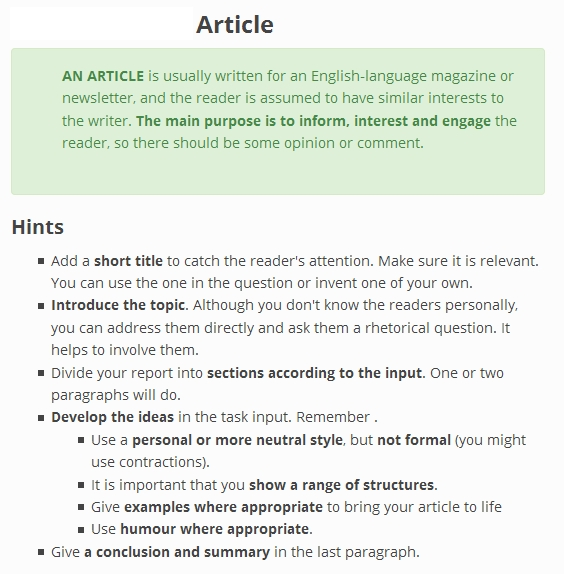How-to Write an English Article