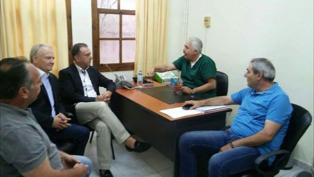 Επίσκεψη Γ. Ανδριανού και Χ. Κέλλα στο Κέντρο Υγείας Λυγουριού