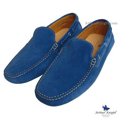 e5595c9044 Arthur Knight Blue Suede Loafers
