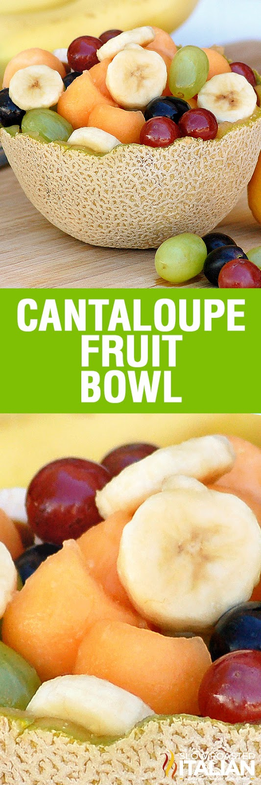 Super Simple Cantaloupe Fruit Bowl is loaded with your favorite fruit and a simple dressing to perk up your tastebuds. It is a fun-filled fruit salad, perfect for parties and easy enough for lunch at home.
