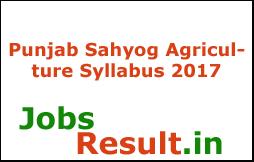 Punjab Sahyog Agriculture Syllabus 2017