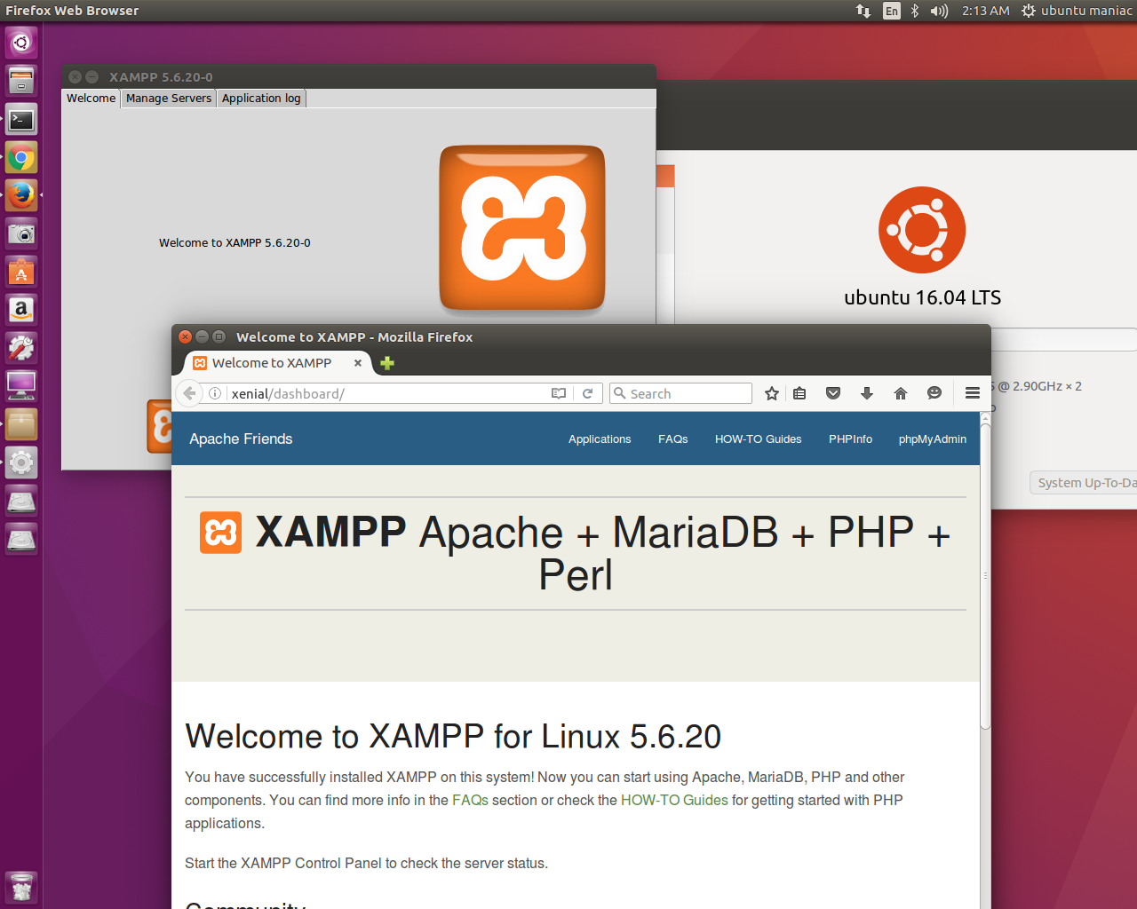 Install Xampp 5 6 20 on Ubuntu 16 04 'Xenial Xerus' and