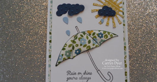 TWO PAPER DIVAS - Design Team Card - Rain or Shine Umbrella and Scratch-Off Surprise!!