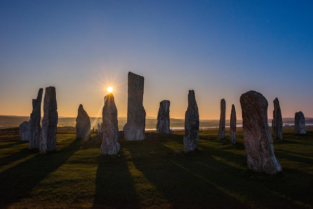 Supermonn Callanish Standing Stones