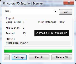 Tampilan Scanner Aurora FD Security - Catatan Nizwar ID