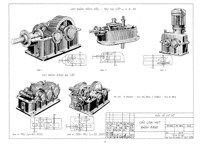 Tập bản vẽ chi tiết máy, Vẽ kỹ thuật cơ khí, vẽ kỹ thuật, bài tập vẽ kỹ thuật, tài liệu vẽ kỹ thuật, giáo trình vẽ kỹ thuật