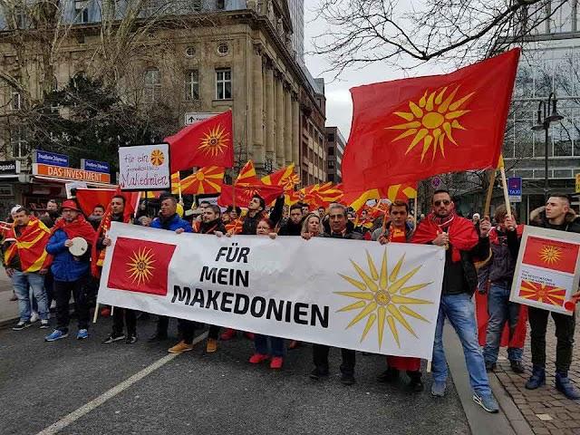 Mazedonier in Deutschland mit Protest am Samstag in Frankfurt
