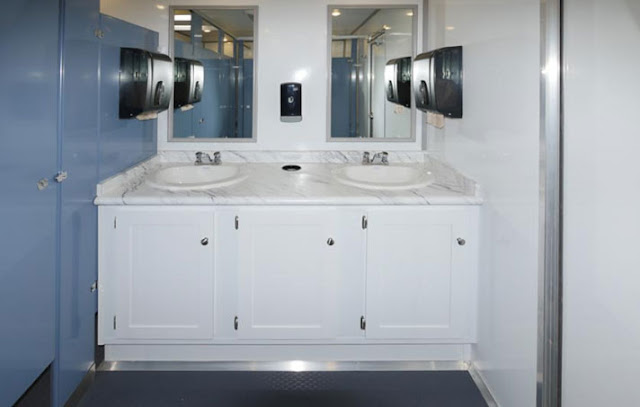 The Professional Portable Toilet with Double Sink Vanity