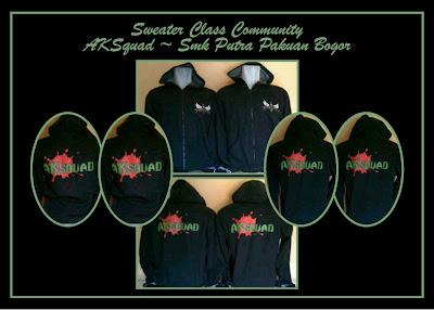 Hoodie (Sweater Kupluk) AKSQUAD SMK Putra Pakuan Bogor
