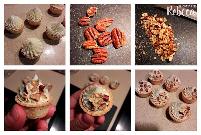 Receta de tartaletas de crema de queso, membrillo y nueces 02