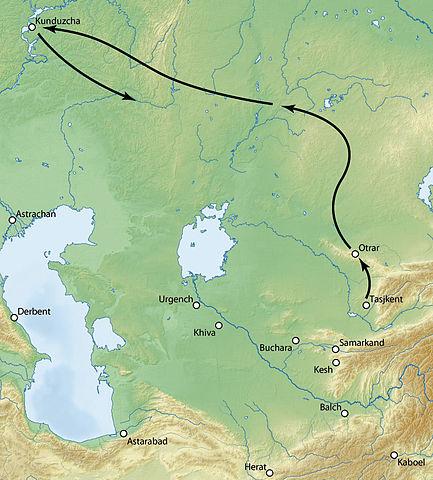 timurid attack map
