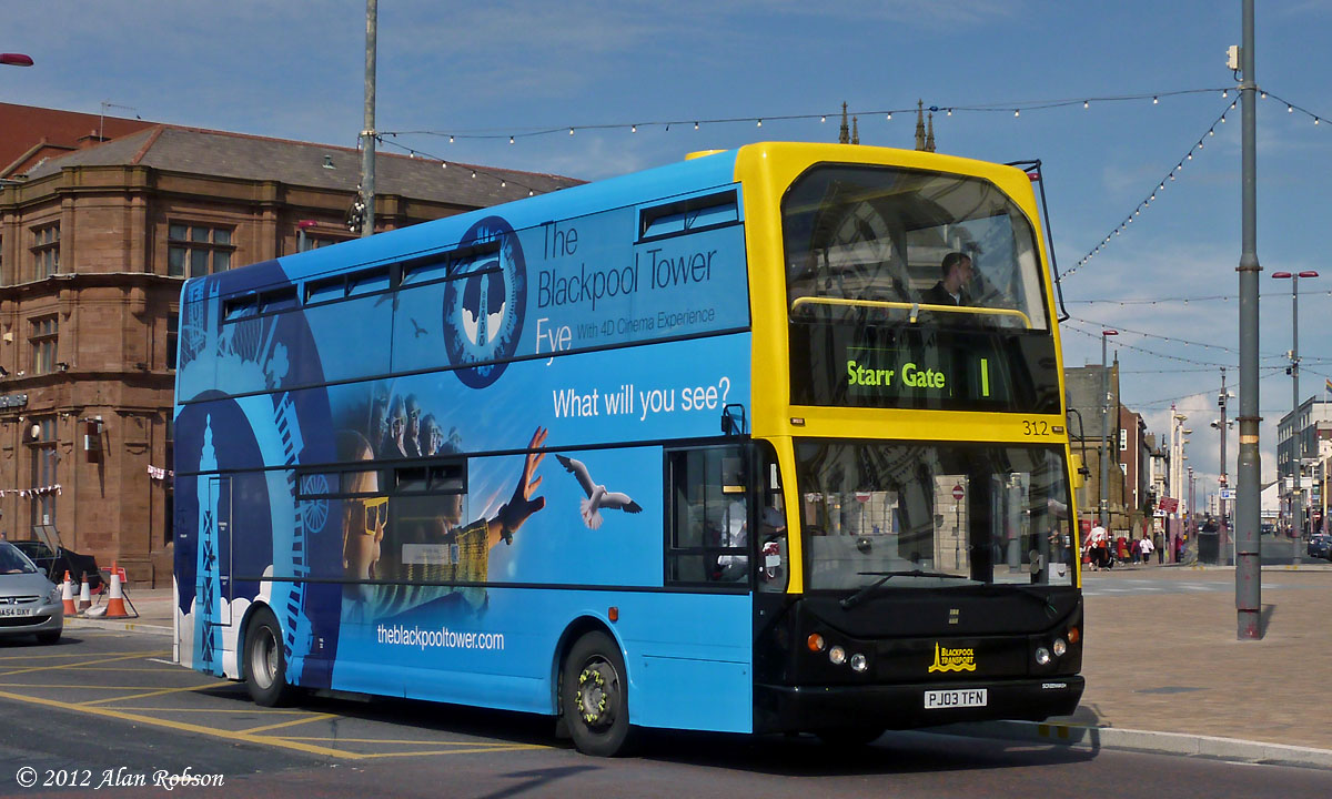 Blackpool Tram Blog Trident 330 Receives New Tower Advert
