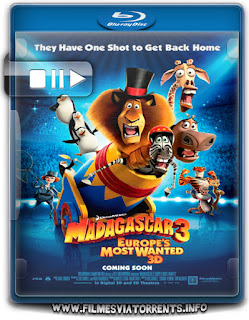 Madagascar 3: Os Procurados Torrent - BluRay Rip 1080p Dual Áudio