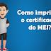 Como imprimir a segunda via do certificado do MEI?