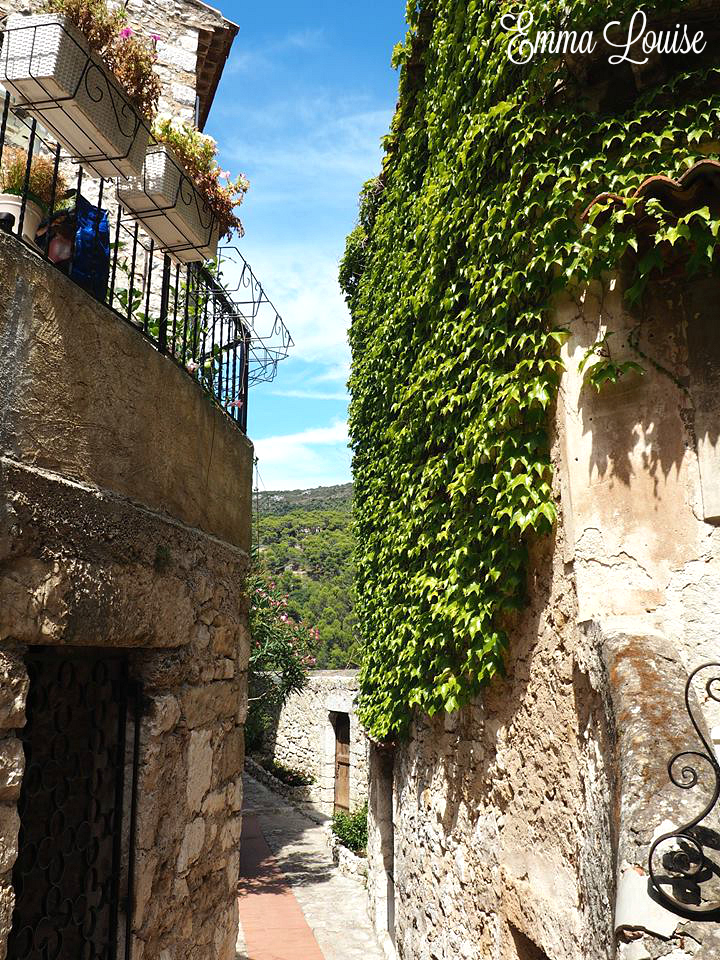 Eze village narrow streets
