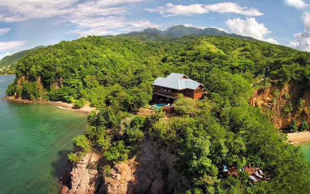 Hôtel écologique à la Dominiqiue