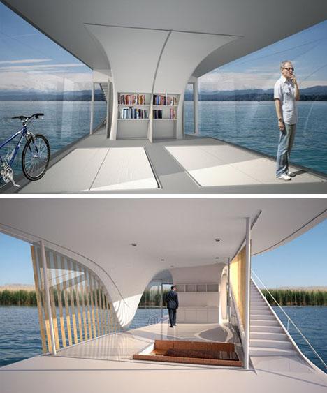 Funtastic Last Resort Floating Green Home Sets Sail W