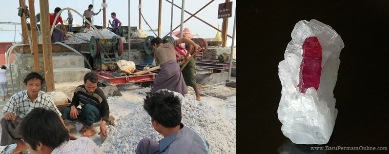 Tambang Batu Ruby di Burma