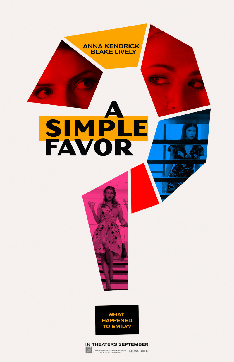 a simple favour movie poster