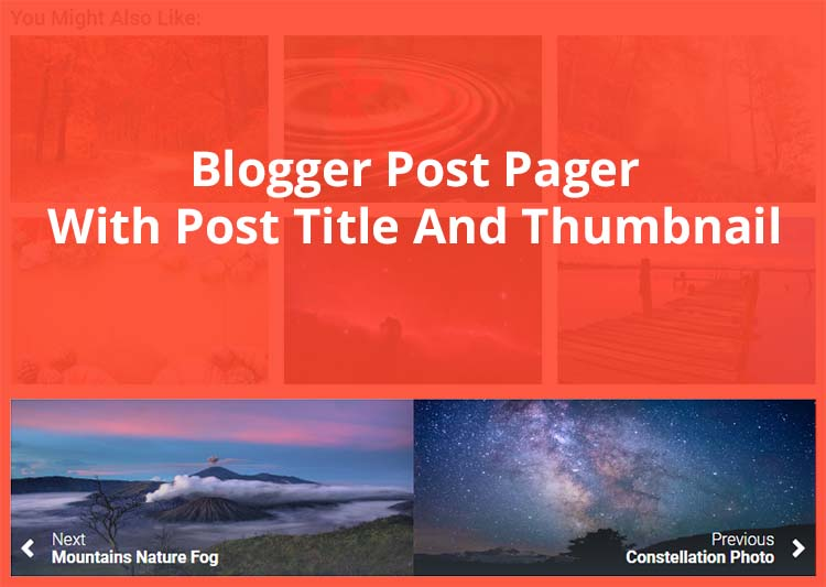 Blogger Post Pager With Post Title And Thumbnail Support HTTPS