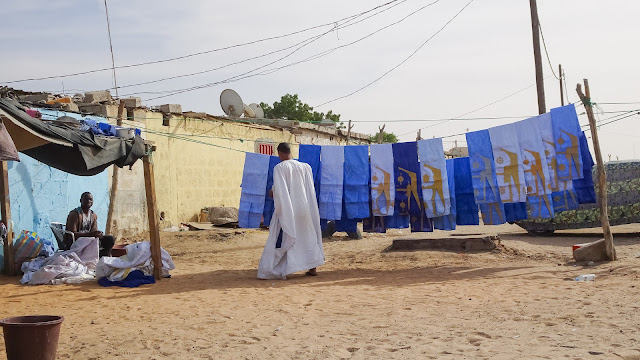 Blue and white are favorite colors in Mauritania