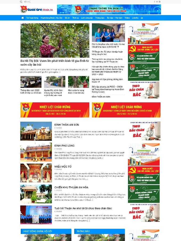Trang tin tức Tuổi Trẻ Thành Phố Thuận An