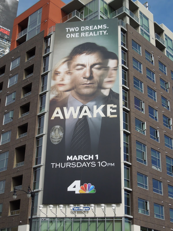 Giant Awake TV billboard