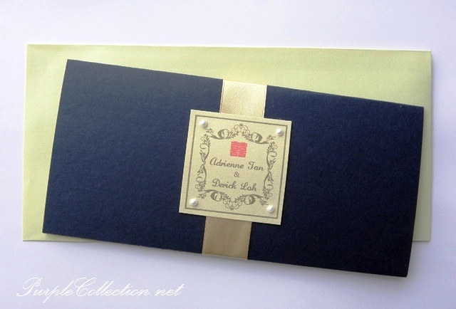 Royal Blue Boarding Pass Chinese Wedding Invitation Card, Royal Blue, Royal, Blue, Boarding Pass, Chinese Wedding, Chinese, Chinese Wedding Invitation Card, Wedding, Wedding Invitation Card, Invitation Card, Marriage, Classy, Royal, Pearl