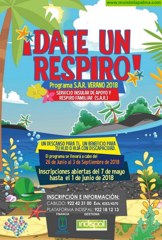 El Cabildo mantiene abierto el plazo de inscripción para el Servicio Insular de Apoyo y Respiro Familiar durante el verano