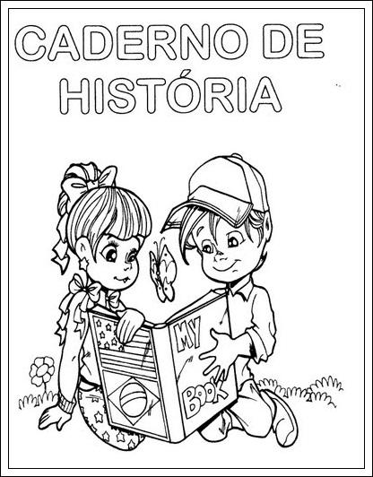 Modelo Capa Caderno Escolar Portugues 2