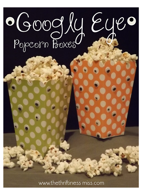 Halloween googley eye popcorn boxes