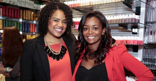 Jihan Thompson and Jenny Lambert, founders of Swivel Beauty app