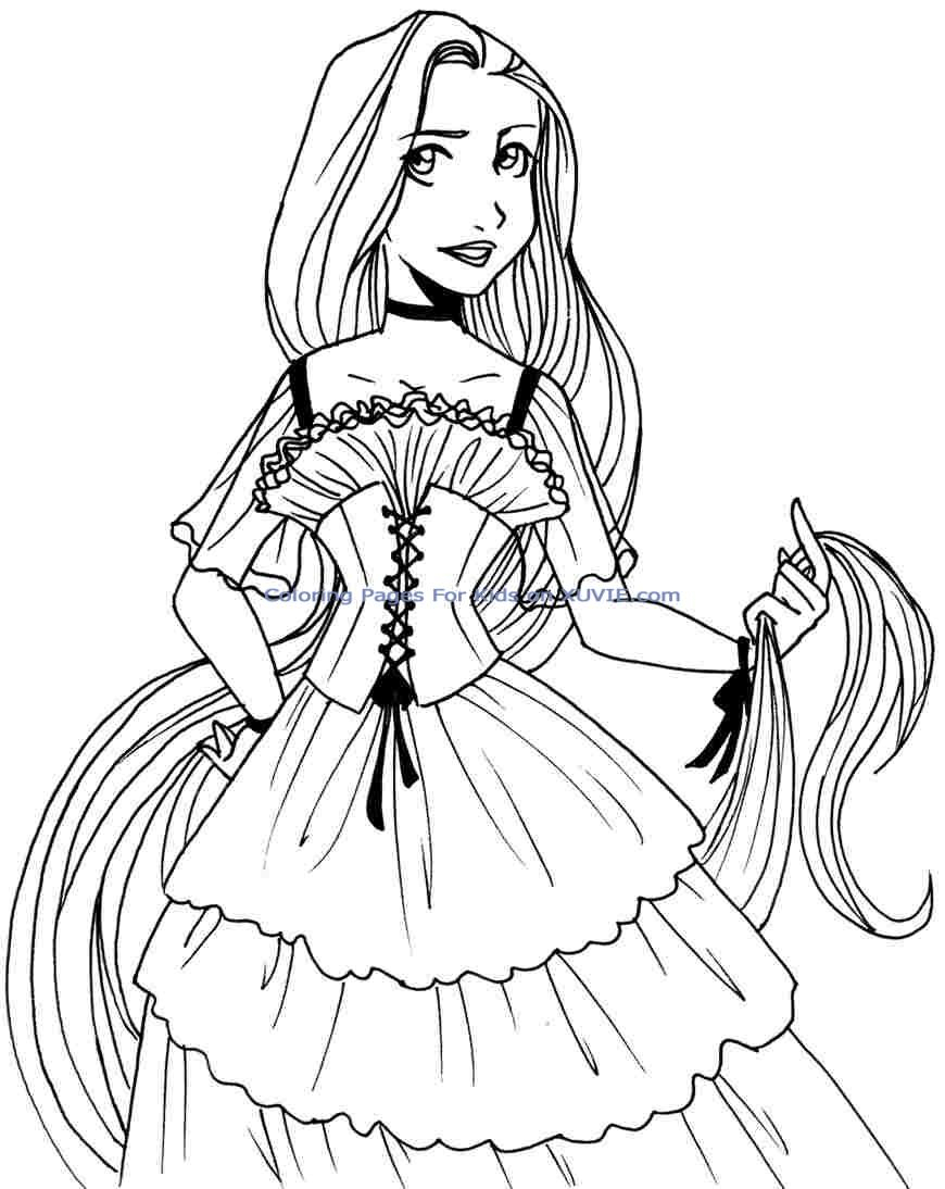 HD Baby Disney Princess Coloring Pages Pictures - Coloring ... | free online printable disney princess coloring pages