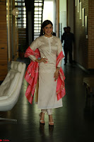 Mannara Chopra in Silky White Salwar Suit with Pink Chunni Latest Exclusive Pics March 2017 ~  062.JPG